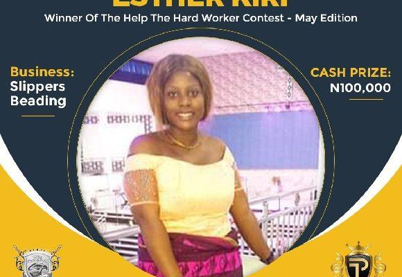 Esther Kikri May Winner of Help A Hardworker