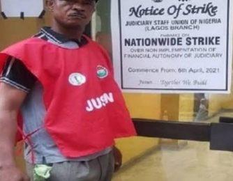 Judicial workers JUSUN strike